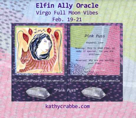 Pink Puss: Elfin Ally Oracle for the Virgo Full Moon