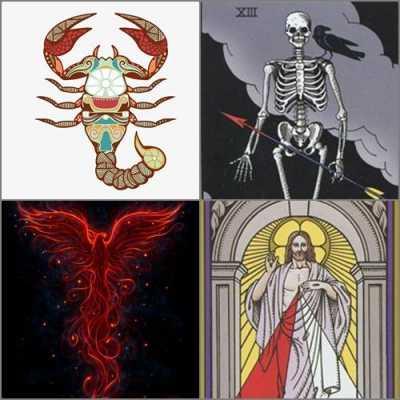 Scorpio, Death, Resurrection, The Phoenix and The Sun