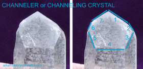 CHANNELER or CHANNELING CRYSTAL - To access higher wisdom, guides, other-world beings