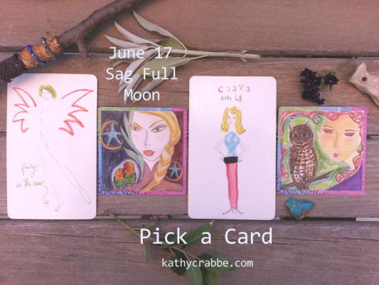 Sagittarius Full Moon Oracle Reading (pick-a-card)