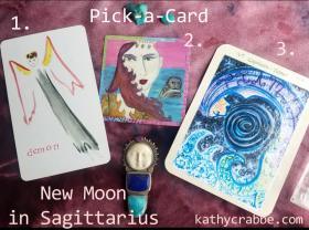 Sagittarius New Moon Oracle Reading + Pick-a-Card